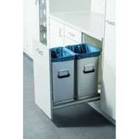 Leichtmetall-Abfallsammler 46084, Volumen 39 l, eloxiert, 300 x 264 x 500 mm | günstig bestellen bei assistYourwork