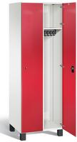 Umkleideschrank S7000 Prefino mit Sicherheits-Glastüren 2 Abteile á 300mm | günstig bestellen bei assistYourwork