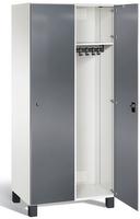 Umkleideschrank S7000 Prefino mit Sicherheits-Glastüren 2 Abteile á 400mm   günstig bestellen bei assistYourwork