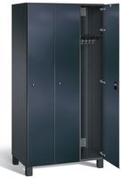 Umkleideschrank S7000 Prefino mit Sicherheits-Glastüren 3 Abteile á 300mm | günstig bestellen bei assistYourwork