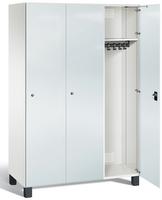 Umkleideschrank S7000 Prefino mit Sicherheits-Glastüren 3 Abteile á 400mm   günstig bestellen bei assistYourwork