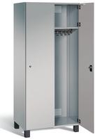 Garderobenschrank S7000 Prefino, 2 Abteile á 400mm, mit Stahltüren | günstig bestellen bei assistYourwork