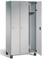 Garderobenschrank S7000 Prefino, 3 Abteile á 300mm, mit Stahltüren | günstig bestellen bei assistYourwork