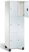 Spind S 7000 Prefino - 3 Fächer übereinander, 3x2 Abteile á 300mm, mit Glastüren | günstig bestellen bei assistYourwork