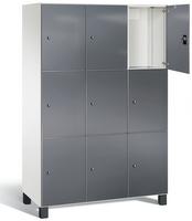 Spind S 7000 Prefino - 3 Fächer übereinander, 3x3 Abteile á 400mm, mit Glastüren   günstig bestellen bei assistYourwork
