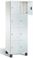 Fächerschrank S 7000 Prefino - 4 Fächer übereinander, 4x2 Abteile á 300mm, mit Glastüren | günstig bestellen bei assistYourwork