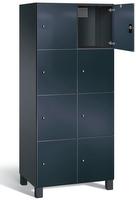 Fächerschrank S 7000 Prefino - 4 Fächer übereinander, 4x2 Abteile á 400mm, mit Glastüren   günstig bestellen bei assistYourwork