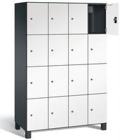 Fächerschrank S 7000 Prefino - 4 Fächer übereinander, 4x4 Abteile á 300mm, mit Stahltüren | günstig bestellen bei assistYourwork