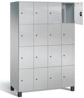 Fächerschrank S 7000 Prefino - 4 Fächer übereinander, 4x4 Abteile á 300mm, mit Glastüren | günstig bestellen bei assistYourwork