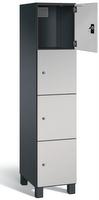 Fächerschrank S 7000 Prefino - 4 Fächer übereinander, 4x1 Abteil á 400mm, mit Stahltüren | günstig bestellen bei assistYourwork