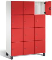 Fächerschrank S 7000 Prefino - 4 Fächer übereinander, 4x3 Abteile á 400mm, mit Stahltüren | günstig bestellen bei assistYourwork