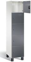 Fächerschrank S 7000 Prefino - 5 Fächer übereinander, 5x1 Abteil á 400mm, mit Glastüren | günstig bestellen bei assistYourwork