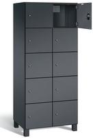 Fächerschrank S 7000 Prefino - 5 Fächer übereinander, 5x2 Abteile á 400mm, mit Stahltüren   günstig bestellen bei assistYourwork