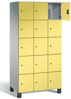 Fächerschrank S 7000 Prefino - 5 Fächer übereinander, 5x3 Abteile á 300mm, mit Stahltüren | günstig bestellen bei assistYourwork