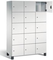 Fächerschrank S 7000 Prefino - 5 Fächer übereinander, 5x3 Abteile á 400mm, mit Stahltüren | günstig bestellen bei assistYourwork