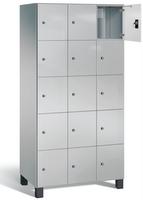 Fächerschrank S 7000 Prefino - 5 Fächer übereinander, 5x3 Abteile á 300mm, mit Glastüren | günstig bestellen bei assistYourwork