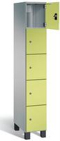 Fächerschrank S 7000 Prefino - 5 Fächer übereinander, 5x1 Abteil á 300mm, mit Stahltüren | günstig bestellen bei assistYourwork