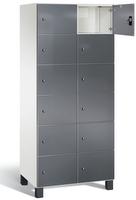 Fächerschrank S 7000 Prefino - 6 Fächer übereinander, 6x2 Abteile á 400mm, mit Glastüren | günstig bestellen bei assistYourwork