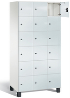 Fächerschrank S 7000 Prefino - 6 Fächer übereinander, 6x3 Abteile á 300mm, mit Glastüren   günstig bestellen bei assistYourwork