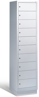Laptopschrank 48020-1210, 10 Fächer HxBxT 1800x420x500mm, Unterbau mit Sockel | günstig bestellen bei assistYourwork