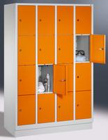 Select Fächerschrank 1-100293, mit Sockel, 4x4 Fächer, Abteilbreite 300mm, | günstig bestellen bei assistYourwork