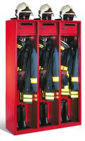 Evolo Feuerwehrschrank 1-100450, Füße, 3 Abteile, Wertfach, klappbarer Helmhalter auf Schrankdach | günstig bestellen bei assistYourwork