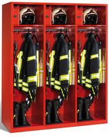 Evolo Feuerwehrschrank 1-100443 3 Abteile á 500mm, mit Füße, mit Wertfach | günstig bestellen bei assistYourwork