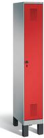 Garderobenschrank Evolo 49010-10, 1 Abteil mit Stahltür á 300 mm, Füße | günstig bestellen bei assistYourwork