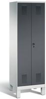 Evolo Wäschespind 49012-20B auf Füßen, 2 Abteile, HxBxT 1850x600x500mm   günstig bestellen bei assistYourwork