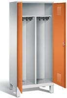 EVOLO Garderobenspind 49012-22 auf Füßen, 2 Abteile für 1 Person, Abteilbreite 400 mm   günstig bestellen bei assistYourwork