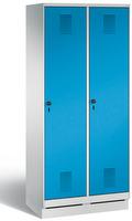 Stahl Garderobenschrank Evolo S3000 2 Abteile á 300mm, mit HPL Dekortüren  | günstig bestellen bei assistYourwork