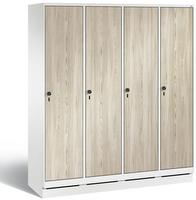 Garderobenschrank Evolo 49020-42, 4 Abteile mit Stahltür á 400 mm, auf Sockel | günstig bestellen bei assistYourwork