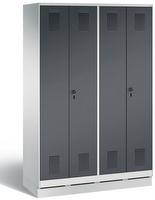 Evolo Kleiderspind 49022-40 auf Sockel, 4 Abteile für 2 Personen, Abteilbreite 300 mm | günstig bestellen bei assistYourwork