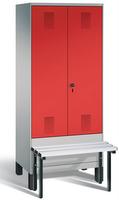 Evolo Garderobenspind 49032-22, 2 Abteile für 1 Person, Abteilbreite 400 mm | günstig bestellen bei assistYourwork