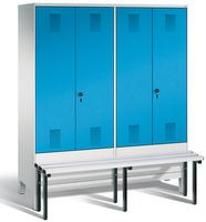 Evolo Garderobenspind 49032-42, Abteilbreite 400 mm je 2 Abteile für 2 Personen   günstig bestellen bei assistYourwork