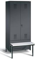 Evolo Garderobenspind 49042-22, 2 Abteile für 1 Person, Abteilbreite 400 mm | günstig bestellen bei assistYourwork