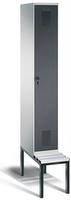 Garderobenschrank Evolo 49050-10, 1 Abteil á 300 mm, untergebaute Sitzbank | günstig bestellen bei assistYourwork