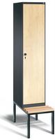 Garderobenschrank Evolo 49050-12, 1 Abteil á 400 mm, untergebaute Sitzbank | günstig bestellen bei assistYourwork