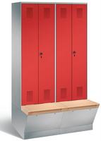 Evolo Garderobenschrank 49056-40, mit untergebauter Aufbewahrungsbox, je 2 Abteile für 2 Personen | günstig bestellen bei assistYourwork