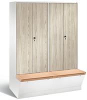 Evolo Garderobenschrank 49056-42, mit untergebauter Aufbewahrungsbox, Abteilbreite 400 mm | günstig bestellen bei assistYourwork