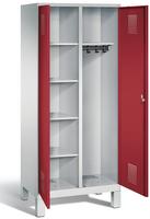 Evolo Wäsche--Garderobenspind 49060-22, auf Füßen 2 Abteile á 400 mm, HxBxT 1850 x 800 x 500 mm | günstig bestellen bei assistYourwork