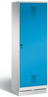 Evolo Garderobenschrank 49220-20, auf Sockel, eine Tür über zwei Abteile (2 x 300 mm)    günstig bestellen bei assistYourwork