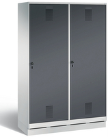 Evolo Garderobenschrank 49220-40, auf Sockel je eine Tür über zwei Abteile (4 x 300 mm)  | günstig bestellen bei assistYourwork
