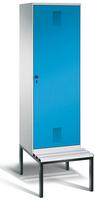 Evolo Garderobenschrank 49250-20, mit Sitzbank, eine Tür über zwei Abteile (2 x 300 mm)  | günstig bestellen bei assistYourwork