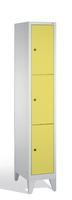 Fächerschrank 8010-103, mit Füßen 3 Fächer, Abteilbreite 300mm,   günstig bestellen bei assistYourwork