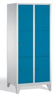 Garderobenfächerschrank 8010-223, mit Füßen 2x3 Fächer, Abteilbreite 400mm, | günstig bestellen bei assistYourwork