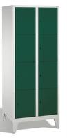 Select Garderobenfächerschrank 1-100287, mit Füßen, 2x4 Fächer, Abteilbreite 400mm, | günstig bestellen bei assistYourwork