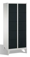 Select Garderobenfächerschrank 1-100289, mit Füßen, 2x5 Fächer, Abteilbreite 400mm, | günstig bestellen bei assistYourwork