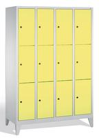 Select Schließfachschrank 1-101002, mit Füßen 4x3 Fächer, Abteilbreite 300mm, | günstig bestellen bei assistYourwork