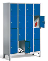 Select Schließfachschrank 1-100283, mit Füßen 4x4 Fächer, Abteilbreite 300mm, | günstig bestellen bei assistYourwork